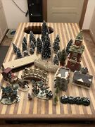 Model Train Layout Trees, Buildings And More. H.o Scale Etc. Christmas Winter