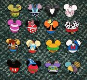 Disney Pin Mickey Mouse Icon Peter Pan Stitch Marie Sally Cheshire Pins Set/lot