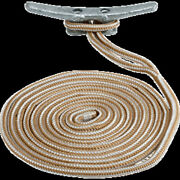 Sea-dog Double Braided Nylon Dock Line - 3/4 X 25and39 - Gold/white