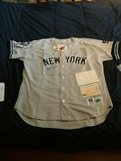 Derek Jeter Signed Autograph Authentic Away Yankees 1999 Jersey Le Of 99