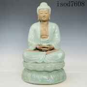 """11.8""""antique Chinese Song Dynasty Porcelain Ru Porcelain Buddhism"""
