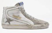 Golden Goose Slide White Leather Suede Upper Womenand039s Sneaker Sizes 5-11 / 35-41