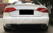 For Audi A4 B8 08-12 Rs-look Honeycomb Grill Diffuser+led -