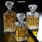 Oussirro Crystal Glass Wine Red Bottle + 2pcs Cups Wine Decanter Whiskey Liqour