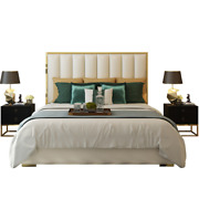 Soft Fabric Bed Simple Modern Master Bedroom Double Bed 1.8m Artificial Leather
