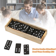 Wooden Domino Board Games Travel Funny Table Game Domino Toys Teaching Aids Doub
