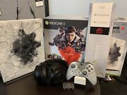 Xbox One X Gears Of War 5 Limited Edition Console Complete Box W/ Razor Headset