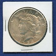1924 S Peace Dollar 1 Us Mint Coin Rare Key Date Silver Coin 1924-s Bu Ms++++