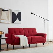 Fabric Chaise Sofa Modern Couch Sofa Loveseat Bed Lounge Sleeper For Living Room