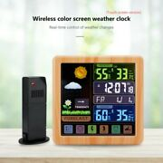 Wireless Digital Lcd Indoor Outdoor Alarm Clock With Weather Station Thermometer