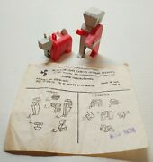 Rare Vintage Puzzle Toy Keychain Robot 1978 Ussr