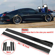 For 2015-2021 Ford Mustang 78.7and039and039 Side Skirt Splitter Extension Lip Glossy Black