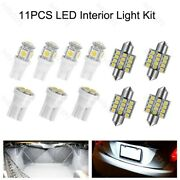 11 Pcs White Led Bulbs For Dome And Map And Door And Glove Box And License Plates Lights