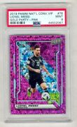 Lionel Messi 2019 Panini National Convention Vip Gold Party Pink 49/50 Psa 9