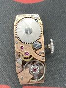 Vintage Belvil Watch Movement Swiss 17 Jewels With Geneva Dial Runs Keeps Time