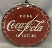 Vintage Coca-cola C1954 Wall Thermometer Drink Coca Cola In A Bottle