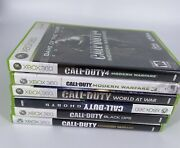 Xbox 360 Call Of Duty Lot Video Game Modern Warfare Ghost Black Ops World At War
