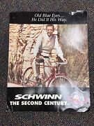 Vintage Frank Sinatra Schwinn Bicycles Promotional Ad Poster Rare Double Sided