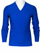 Fioroni Russell In Blue Made Of  Sea Island Cotton/cashmere
