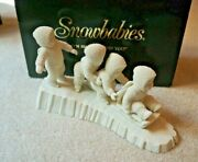 Dept 56 Snowbabies Porcelain I'm Right Behind You 68527 New - Retired