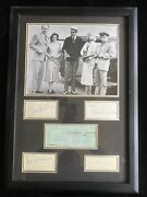 Bonnie And Clyde Cast Signed Framed Display Psa Bas Beatty Dunnaway Hackman +2