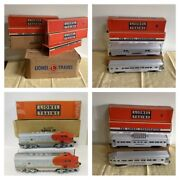 6 Lionel 2 Santa Fe 2353-t, 2353-p And 4 Cars 2530, 2531, 2532, 2533 W/ Boxes