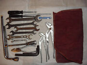 Mercedes Benz Vintange Automobile Tool Kit In Tool Kit Roll About 50 Years Old