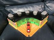Thomas The Train Wooden Railway Roundhouse Engine Shed James And Tender
