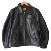 Yand0392 Leather Single Riders Jacket Pony Horsehide Menand039s 42 Vintage Rare From Japan