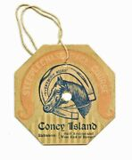 Coney Island Steeplechase Park Race Course Admission Badge