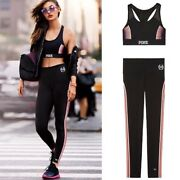Victoria's Secret Pink Ultimate Racerback Sports Bra And Gym Pants Size Xs