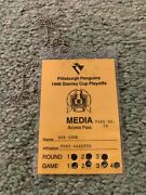 1996 Pittsburgh Penguins Stanley Cup Playoff Media Pass Hockey Ticket Panthers