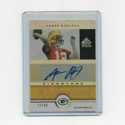 2005 Reflections Gold Signature Aaron Rodgers Rookie Rc Auto Autograph /89