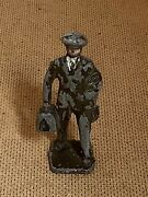 Gray Iron American Family Series Traveling Man Cast Iron Toy Barclay Manoil