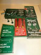 Dept 56 Railroad Xings Lights W /ac Adaptors And 2 Battery Operated Street Lamps