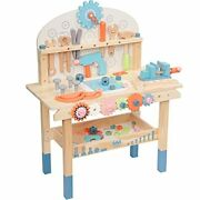 Robud Large Wooden Play Tool Workbench Set For Kids Toddlers Construction Wor...