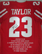 Badgers Jonathan Taylor Signed Custom Replica Red Wi State Jersey Auto - Jsa