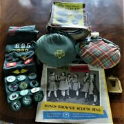 6 Girl Scout Collectibles Sash Canteens Mess Kit 2 Records Our Songs Photo Frame