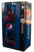 Vendo Univendor 2 Vending Machine W/ Pepsi Graphic Free Shipping Cans And Bottles