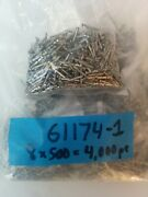 Lot Of 4000 X Amp Tyco 61174-1 Awg 30-22 Brass Tin-plated Pins Nos 500/bag