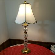 Waterford Crystal Lismore 34 Buffet Lamp Electric Very Tall