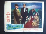 The Uninvited '44 Ray Milland Ruth Hussey Gail Russell Ghost Story Lc