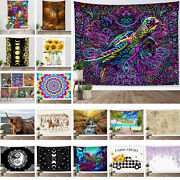 Autumn Forest Tapestry Boho Psychedelic Turtle Wall Hanging Home Bedspread Cover