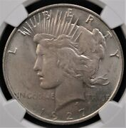 1927 D Peace Dollar Ngc Ms62 Attractive Lustrous Matte Like Surfaces Well Struck