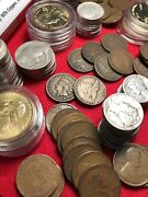 Huge Us Coin Collection Bullion Lot Vintage Gold Silver Flying Eagle Indian Head