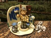 Goebel Hummel And Scape Set Painting Pals 1019-d And One Coat Or Two 2040 Tmk8 Mi