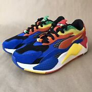 New Rs-x Rubik's Cube Multicolor Running Shoes Mens Sz 6 373428-01 Sneakers