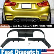 Psm Style Rear Diffuser Lip For Bmw F80 M3 F82 M4 2015-2020 Carbon Fiber Look
