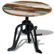 Usa Solid Reclaimed Wood Side Table Height Adjustable Coffee End Table