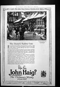 Old Print John Haig Whisky Gillette Safety Razor Leather Gift Boots 1923 20th